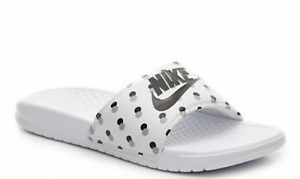 🔥 Nike Benassi JDI Slides Women's  sandals 7-10  Bronze, Berry platinum, Gold