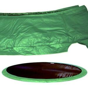 """Jumpking 13"""" Wide Trampoline Frame Pad Size: 15 Foot Green"""