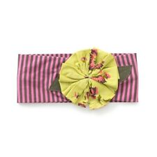 Matilda Jane All Dolled Up Flower Bow Striped Headband Make Believe NWT