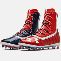 UNDER ARMOUR MC Football Cleats Highlight USA Flag UA LAX Land of the Free - 13