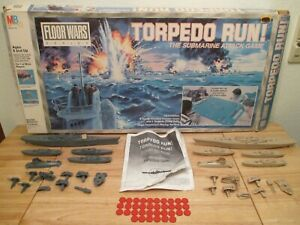 1986 Milton Bradley Torpedo Run! Floor Wars Game Submarine Attack