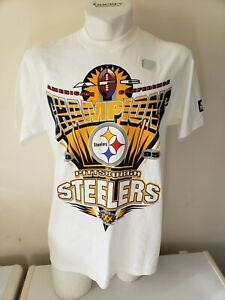 Super Bowl XXX 30 Pittsburgh Steelers Vintage Starter Tee T Shirt AFC Champions