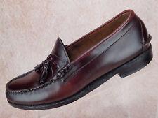 Johnston Murphy Aristocraft Burgundy Leather Tassel Moc Loafer Shoe Men 9.5 D/B