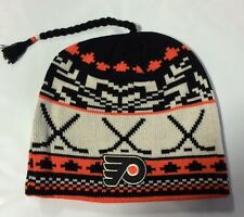 Philadelphia Flyers REEBOK Knit Beanie Toque Winter Hat Skull - New NHL Tassel