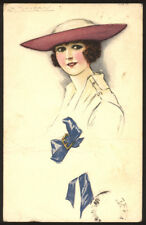 cartolina d'epoca-post card-illustratore  MAUZAN-DONNINE,WOMAN,LADY DECO' 9