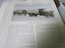 Nutzfahrzeug Archiv 2 Entwicklung 2740 MAN Cardanwagen Tankzug 1922