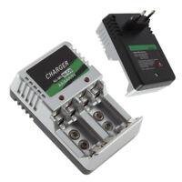 New EU Plug AC Wall AA AAA 9V Ni-Mh Ni-Cd Rechargeable Battery Charger