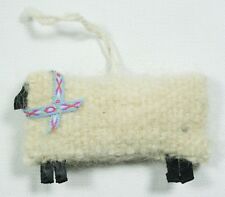 Fabric White Sheep Christmas Ornament Holiday Tree Decoration