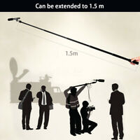 Micro Boom Pole Microphone Mic Holder 5 Section Boompole 35.5cm-150cm  US * #