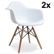 2er Set Stühle Eiffel Stuhl Retro Esszimmerstuhl Bürostuhl Küchenstuhl Holz Weiß
