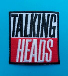 Talking Heads Sew / Iron On Patch (a) Punk Rock Heavy Metal Music Badge