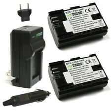Wasabi Power Battery (2-Pack) and Charger for Canon LP-E6, LP-E6N