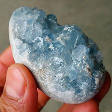 TOP118.7G Natural Crystal Sparkling Blue Celestite Geode Mineral Specimen 703258