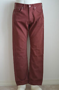 Levi's 505 Regular Fit Bedford Cord Pants Rum NWT Style 005051104