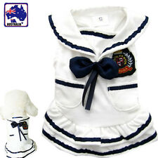 Pet Dog Cat Clothes Navy Uniform Dress Costume Party Clothing Skirt PWEAR40