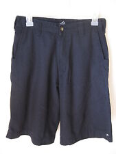 Young Mens Rusty Surf Skate Faded Black Size 28 Flat Front Casual Shorts