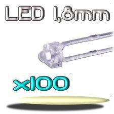 351/100# LED blanc chaud  1,8mm 100pcs ---4000mcd