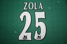 F.A. Premier League Player Size Name & Numbering Printing #25 ZOLA