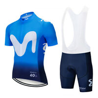 2019 MOVISTAR cycling TEAM jersey 20D bike shorts Ropa Ciclismo MENS