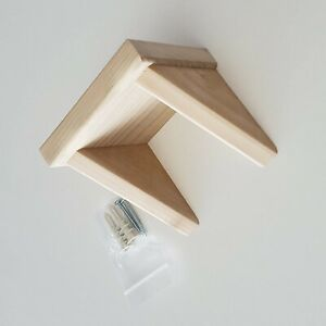 Unfinished Poplar Wood Shelf, Simple, Small, Wall Mount Trophy Display Stand
