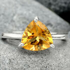 Natural Citrine 925 Sterling Silver Ring s.10 Jewelry E701