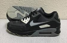 Nike Men's Air Max 90 Essential Shoes - Black / Gray - Size 10 - AJ1285-003