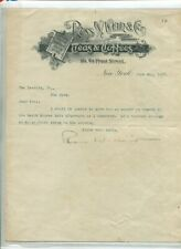 Vintage Illustrated Letterhead ROSS W WEIR TEAS & COFFEE NY 1897