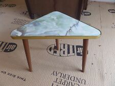 Vintage Retro Small Occasional Triangular Marble Effect Chic Side Coffee Table