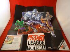 Mutant League Football Sega Genesis Foldable Poster Insert ONLY