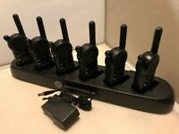 6 Motorola CLS1413 UHF Radios with HCTN4002A CLS 6 pocket Multi-Unit Charger