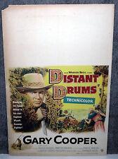 DISTANT DRUMS original 1951 movie poster GARY COOPER