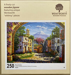 """WENTWORTH """"Three Arches"""" 250 piece Wooden JIGSAW PUZZLE (Whimsy)"""