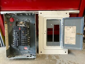 Square D breakers and 100 amp, 20-space panel. Used, good condition.
