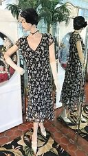 1920s DRESS 1930s FLAPPER Modern Millie Gatsby DOWNTON ABBY Black Gray Medium