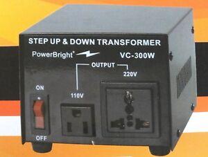 Voltage Transformer 300 Watt Step Up/Down Converter 110/120 - 220/240 Volt *NEW*