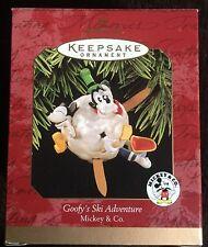 Hallmark Ornament: GOOFY'S SKI ADVENTURE - Mickey & Co - Dated 1997