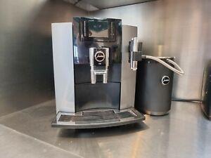 JURA E8 1450 W Bean-to-Cup Coffee Machine - Silver Black With Jura 1L Milk Cool