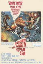 AROUND THE WORLD UNDER THE SEA Movie POSTER 27x40 David McCallum Shirley Eaton