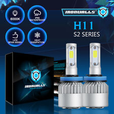 IRONWALLS H11 225000LM LED Headlight Kits Bulbs H9 H8 6000K VS HID 35W 55W Fog