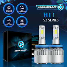 Ironwalls H11 225000Lm Led Headlight Kits Bulbs H9 H8 6000K Vs Hid 35W 55W Fog (Fits: Mazda)