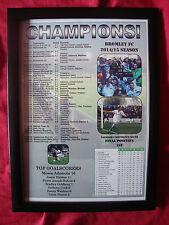 Bromley FC Vanarama Conference South champions 2015 - framed print