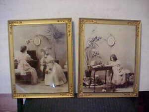 """(2) Antique Ullman Prints, 1898, Excellent Condition 10 1/2"""" x 8 1/2"""""""