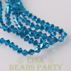 New Arrival 200pcs 3mm Faceted Bicone Loose Spacer Glass Beads Lake Blue