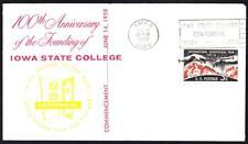 100th ANNIVERSARY IOWA STATE COLLEGE Ames Iowa Cover (7425y)
