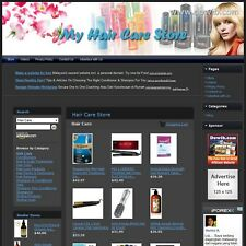 HAIR CARE STORE - Online Business Affiliate Website For Sale - FREE Domain!