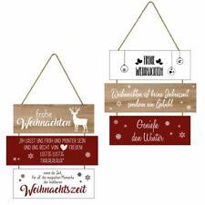 Türschild Plankenschild Schild Deko Holzschild Weihnachten Lieder Sprüche weiß