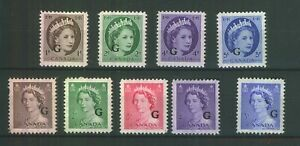 CANADA - 'OFFICAL' STAMPS O/PRINT 'G'' FINE UNMOUNTED MINT MNH
