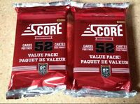 2x Lot 2013-14 2014 Score Hockey JUMBO Pack 52-Card Dual Rookie Class