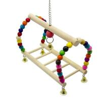 Wood Ladder Climb Parrot Bird Toy Rope Harness Toys Parakeet Cockatiel Cableway