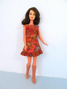 Vintage 1966 Barbie BRUNETTE TNT MARLO FLIP Rooted Lashes BOOTS OOAK SUN SHINER